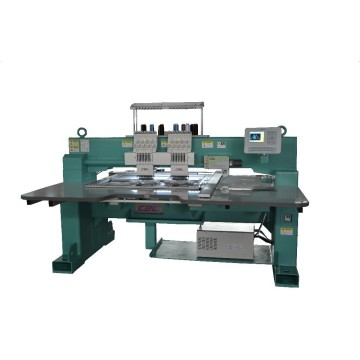 Computerized durable 2 heads regular speed flat embroidery machine