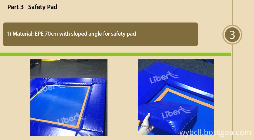 soft padding of Elastic Indoor Trampoline