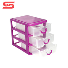 1-5 layer small desktop plastic drawer storage for home