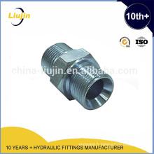 Raccord de tube en acier adaptateur mele hydraulique / mamelon
