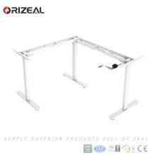 Smart office adjustable standing desk Manual crank office workstation frame with 3 legs frame