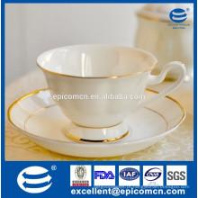 Único copo de chá e pires, hot novos produtos porcelana xícara de café e pires