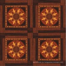 Piso de madera de parquet lujoso
