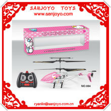 HTX084-2 X'MAS hot gift!! Hello kitty canopy r c helicopter 3.5 CH w/ gyro