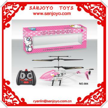HTX084-2 X'MAS regalo caliente !! Hello kitty canopy rc helicóptero 3.5 CH w / gyro