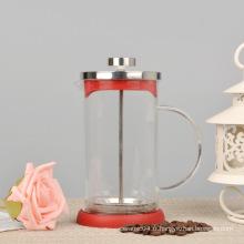 Machine à espresso à café française en Pyrex de haute qualité