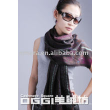 ladies' printed fashion wool scarf