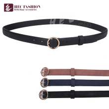HEC New 2018 Products Woven Belt With Metal Ring For Women