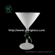 Único vidro de vinho da geada da parede por BV