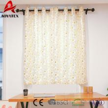Folha nova da folha do projeto impressa cortinas de janela de linho para a sala de visitas