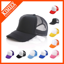 Cheap custom plain women men kids's trucker cap