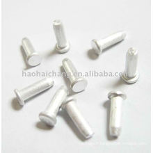 Petite vis à tête plate en aluminium spéciale faite sur commande