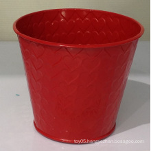 Red decorative flower pot
