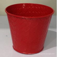 Pot de fleurs décoratif rouge