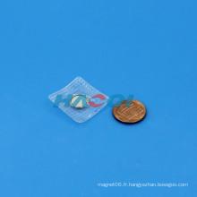 Neo ndfeb bouton permanent de disque magnétique en néodyme