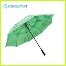 Guarda-chuva de golfe de publicidade ventilada à prova de vento
