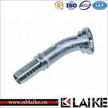 (87341) 45 Degree SAE Flange 3000 Psi Hydraulic Hose Fitting