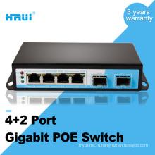 1000м 48В 2 портов SFP 4 порта питания через Ethernet PoE коммутатор