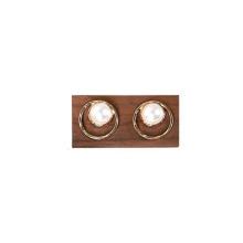 Soporte de exhibición de joyería de madera Pendientes de madera Soporte de anillos