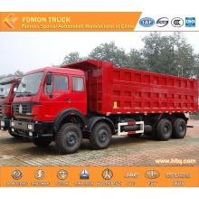 North-Benz 8X4 Hydraulic Cylinder Dump Truck