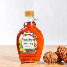 250ml 500ml maple syrup glass bottle with screw top or crown cap.