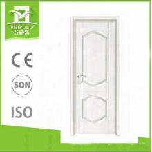 2018 nuevo tipo de puerta de madera de MDF residencial de alta calidad para uso interior