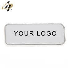 Imanes plateados de nevera metálicos personalizados en blanco con su propio logotipo