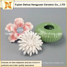 Quemador de botellas de perfume de cerámica con tapa de flores