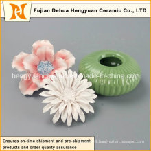 Ceramic Perfume Bottle Burner with Flower Cap