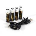 Cargador USB de batería AA de 1850mWh