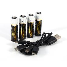Carregador USB de bateria AA de 1850 mWh