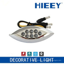 Lámpara de posición lateral LED lámpara de chapado lámpara de matrícula luz decorativa con 3 hilos y LED ámbar