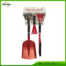 3-in-1 Snow Shovel Kit with Ice Scraper