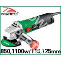 1100/850 Вт 115/125мм электрическая углошлифовальная (PT81018)