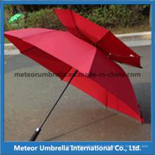 Guarda-chuva de golfe de dupla camada de prova de ventilação