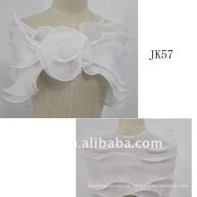 J57women rebordeó la chaqueta de la boda de las mangas largas