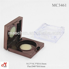 Unique square shaped round pan compact case/transparent eyeshadow container