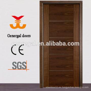 Chapa de madera laminada enchapada mdf puerta de madera