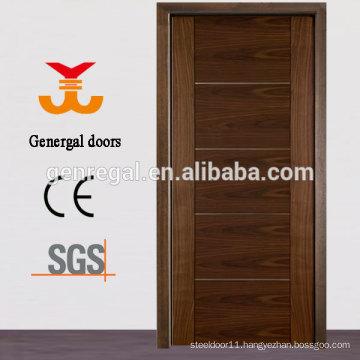 CE solid core wood walnut veneer doors
