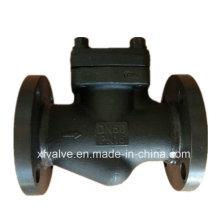 Válvula de retención de elevación de extremo de conexión de brida de acero al carbono forjado A105