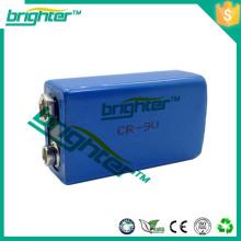Batería del li-ion batería de litio primaria 1200mah 6f22 tamaño 9v batería de litio er9v