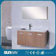 Vanidad de madera del cuarto de baño de Veener de la venta caliente con el espejo