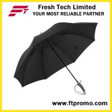 23 pulgadas paraguas a prueba de viento portátil de la espada