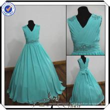 FF0006 verdadera muestra de larga duración vestido de bola vestido de boda de playa vestido de niña de 2014