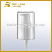 Pompe à lotion en plastique / pompe à crème 24mm / distributeur de pompe avec AS overcap