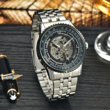 custom logo men's stainless steel fashion watch