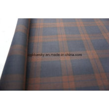 Tecido de lã com mancha de cheque