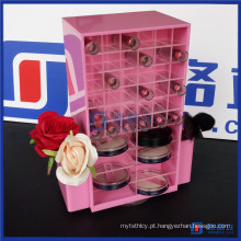 Destaque Prodcuts Pink Color Acrylic Spinning Lipstick Tower