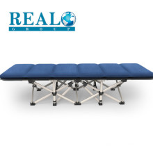 Adult Single Portable Metal Steel Camping Tent Hotel Fold Up Sofa Cot Folding Bed With Mattress