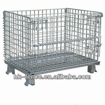 collapsible steel storage cage/folding mesh container 2013
